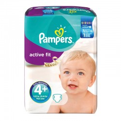 Pampers - Pack 94 Couches Active Fit taille 4+ sur Les Couches
