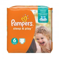 Pampers - Pack 58 Couches Sleep & Play taille 6 sur Les Couches