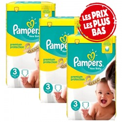 Pampers - Giga Pack 174 Couches Premium Protection - New Baby taille 3