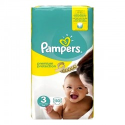 Pampers - Pack 50 Couches Premium Protection - New Baby taille 3