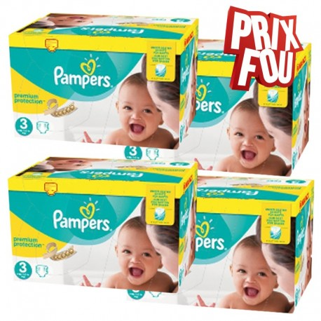 Pampers - Pack Jumeaux 650 Couches Premium Protection - New Baby taille 3 sur Les Couches