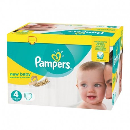 Pampers - Pack 168 Couches Premium Protection - New Baby taille 4 sur Les Couches