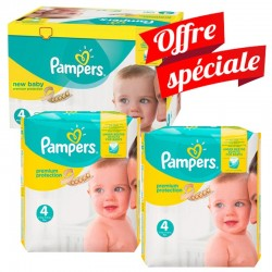 Pampers - Maxi Giga Pack 672 Couches Premium Protection - New Baby taille 4 sur Les Couches