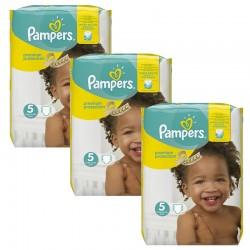 Pampers - Giga Pack 204 Couches Premium Protection - New Baby taille 5