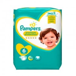 Pampers - Pack 31 Couches Premium Protection - New Baby taille 6 sur Les Couches