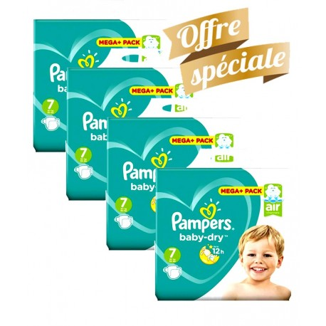 Pampers - Maxi Giga Pack 308 Couches Baby Dry taille 7 sur Les Couches