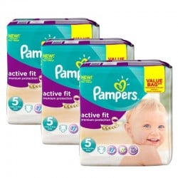 Pampers - Giga Pack 276 Couches Active Fit taille 5 sur Les Couches