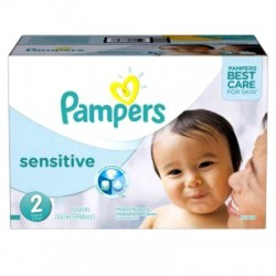 Pampers - Giga Pack 360 Couches New Baby Sensitive taille 2 sur Les Couches