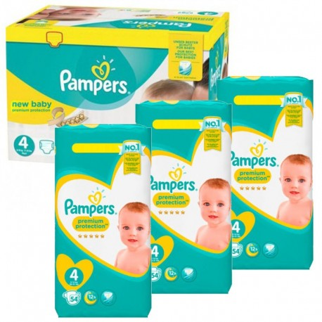 Pampers - Giga Pack 270 Couches New Baby - Premium Protection taille 4 sur Les Couches