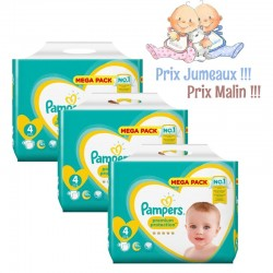 Pampers - Pack Jumeaux 468 Couches New Baby - Premium Protection taille 4