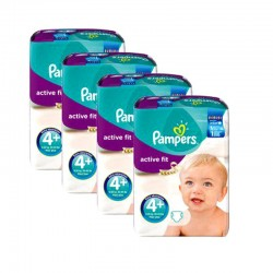 Pampers - Mega Pack 248 Couches Active Fit taille 4+