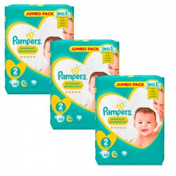 Pampers - Maxi Pack 204 Couches New Baby - Premium Protection taille 2