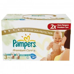 LesCouches Maxi Giga Pack 297 couches Pampers Premium Care