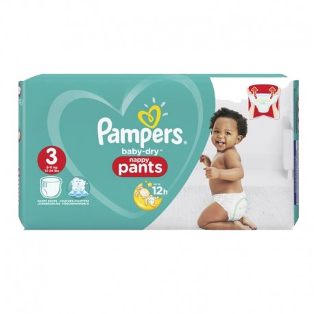 Pampers - Pack 80 Couches Baby Dry Pants taille 3 sur Les Couches