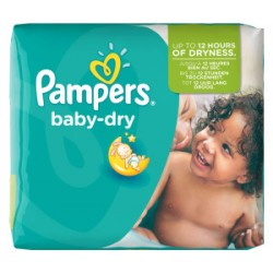 Pampers - Pack 25 Couches Baby Dry taille 5+ sur Les Couches