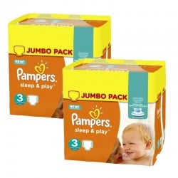 Pampers - Maxi Pack 410 Couches Sleep & Play taille 3 sur Les Couches