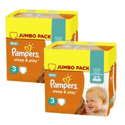 Pampers - Maxi Pack 415 Couches Sleep & Play taille 3