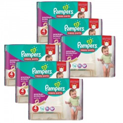 Pampers - Giga Pack 224 Couches Active Fit - Pants taille 4 sur Les Couches