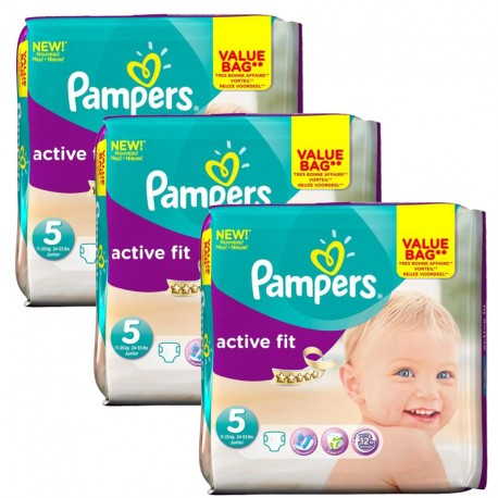 Pampers - Maxi Giga Pack 141 Couches Active Fit taille 5 sur Les Couches
