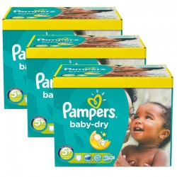 Pampers - Giga Pack 308 Couches Baby Dry taille 5+ sur Les Couches