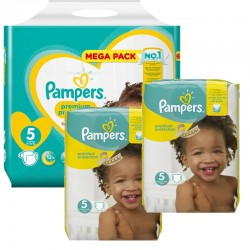 Pampers - Giga Pack 315 Couches New Baby - Premium Protection taille 5 sur Les Couches