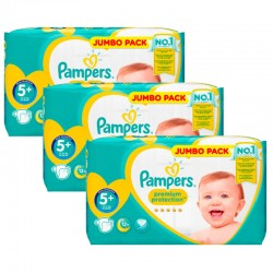 Pampers - Maxi Pack 135 Couches New Baby - Premium Protection taille 5+ sur Les Couches