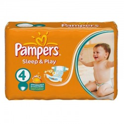 Pampers - Pack 36 Couches Sleep & Play taille 4
