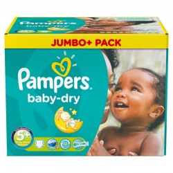 Pampers - Maxi Giga Pack 252 Couches Baby Dry taille 5+ sur Les Couches