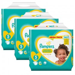 Pampers - Maxi Giga Pack 210 Couches New Baby - Premium Protection taille 5 sur Les Couches