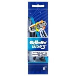 Gillette Blue3 Rasoirs Jetables 8 pc.Edition Football sur Les Couches