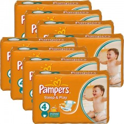 Pampers - Maxi Giga Pack 540 Couches Sleep & Play taille 4