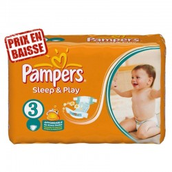 Pampers - 83 Couches Sleep & Play taille 3 sur Les Couches