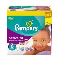 Pampers - Pack 120 Couches Active Fit - Premiun Protection taille 6