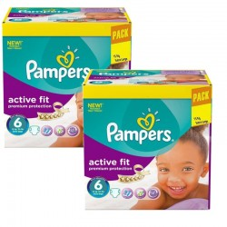 Pampers - Maxi Pack 240 Couches Active Fit - Premiun Protection taille 6 sur Les Couches