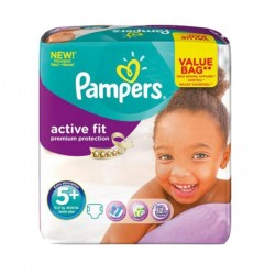 Pampers - Pack 32 Couches Active Fit - Premiun Protection taille 5+