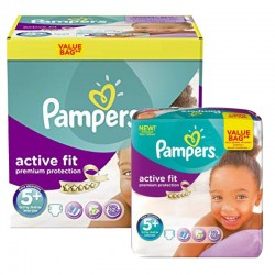 Pampers - Giga Pack 288 Couches Active Fit - Premium Protection taille 5+ sur Les Couches