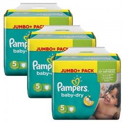 Pampers - Maxi Pack 144 Couches Baby Dry taille 5