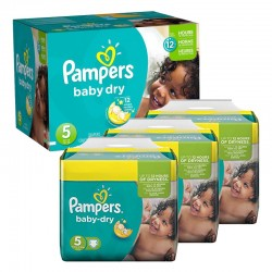 Pampers - Maxi Pack 288 Couches Baby Dry taille 5 sur Les Couches