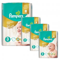 Pampers - Maxi Giga Pack 240 Couches Premium Care - Prima taille 3