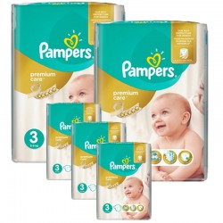 Pampers - Giga Pack 340 Couches Premium Care - Prima taille 3