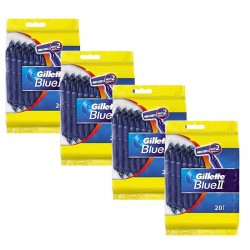 Lot de 4 Packs Gillette BlueII Rasoirs Jetables 20 pc. sur Les Couches