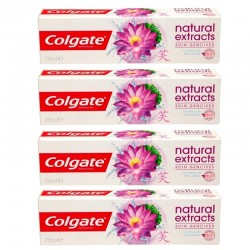 Colgate - Lot 4 Dentifrices Natural Extracts Soin Gencives sur Les Couches
