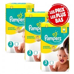 Pampers - Maxi Pack 200 Couches New Baby - Premium Protection taille 3 sur Les Couches