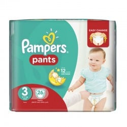 Pampers - Pack 26 Couches Baby Dry Pants taille 3