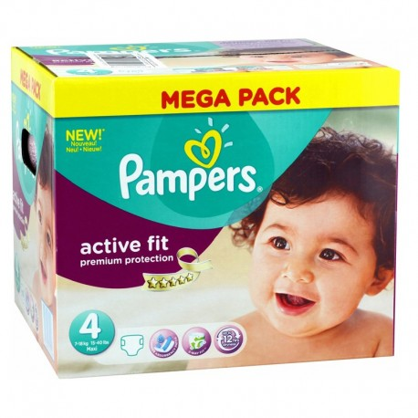 Pampers - Pack 168 Couches Active Fit - Premium Protection taille 4 sur Les Couches