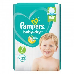Pampers - Pack 23 Couches Baby Dry taille 7 sur Les Couches