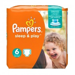 Pampers - Pack 30 Couches Sleep & Play taille 6