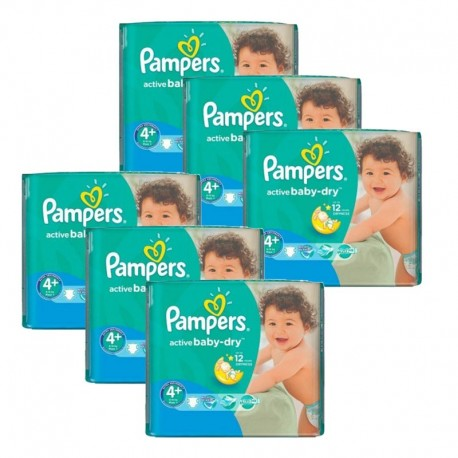 Pampers - Giga Pack 288 Couches Active Baby Dry taille 4+ sur Les Couches