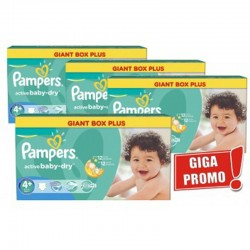 Pampers - Mega Pack 576 Couches Active Baby Dry taille 4+