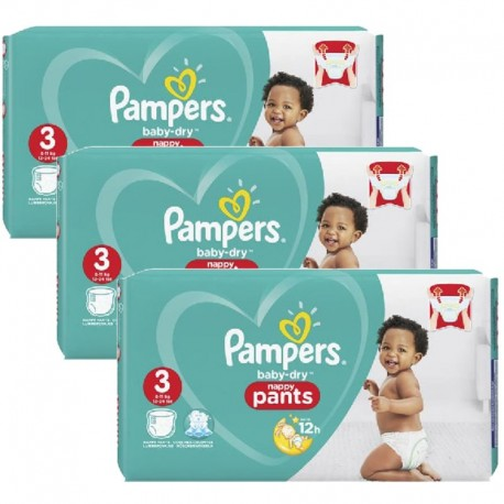 Pampers - Mega Pack 130 Couches Baby Dry Pants taille 3 sur Les Couches